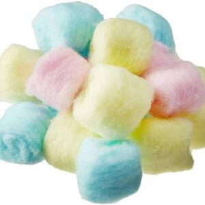 Multicolour Cotton Balls Use For nail polish & face make-up removal, skincare, Baby care, Arts & Crafts - 50 Pcs