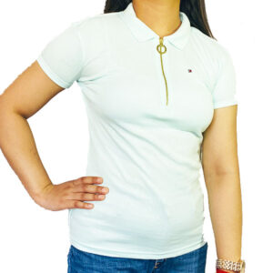 TOMMY HILFIGER Solid Women Polo Neck T-Shirt